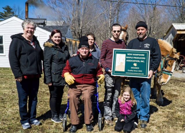 4th generation Fletcher Farm in Washington with their new NHMPA sign